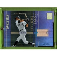 2003 Donruss Elite All-Time Career Best Materials #21 CARLTON FISK  Bat  #/400