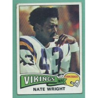 1975 Topps #130 NATE WRIGHT RC Vikings vintage football