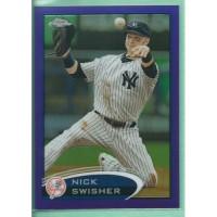 2012 Topps Chrome Purple Refractors #108 NICK SWISHER Yankees baseball