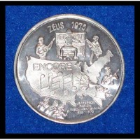 ENCORE USA PHONOGRAPH BANJO PIANO AUTHENTIC NEW ORLEANS MARDI GRAS DOUBLOON