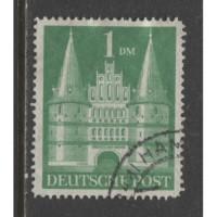 1948 Germany  1 Mark  Holsten Gate  used, Scott # 658 a