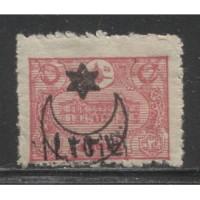 1919  Cilicia  20 pa.  semi postal with op   mint*, Scott # 43