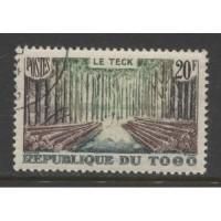 1957  TOGO  20 Fr.  Teak Forest  used,  Scott # 344