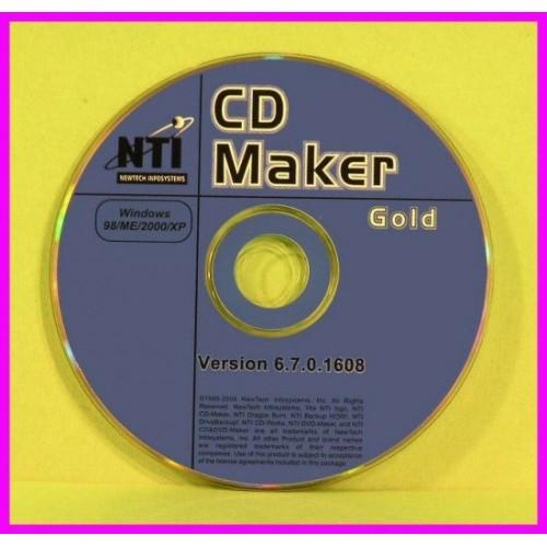 *** NTI CD and DVD MAKER GOLD 6.7  XP WAV Editor NEW **