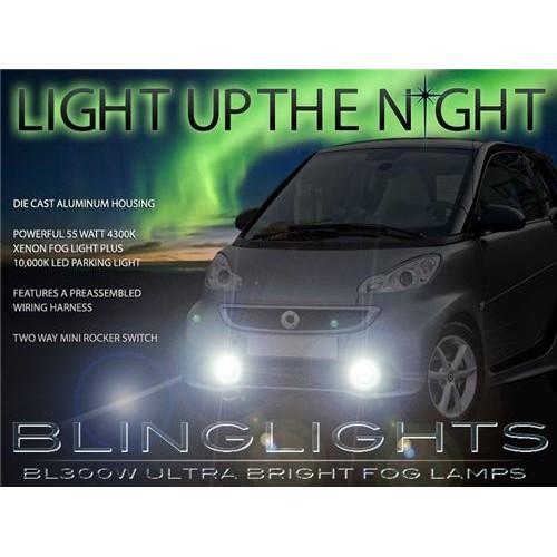 2013 2014 2015 Smart fortwo Fog Light Driving Lights Kit Xenon Fog Lights Drivi