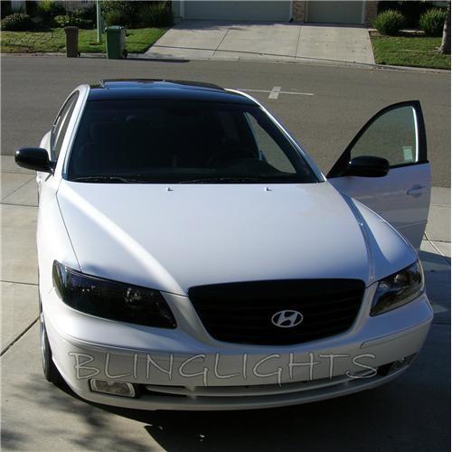 Hyundai Grandeur TG Tinted Smoked Head Lights Overlay Film Protection