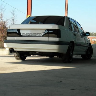 Volvo 850 Tinted Smoked Tail Lights Overlay Film 1993 1994 1995 1996 1997