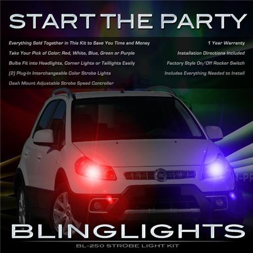 Fiat Sedici Police Strobes Pursuit Lights for Head Lights Strobe Light Kit