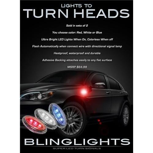 Chrysler 200 LED Side Marker Turnsignal Accent Lights Turn Signaler Markers Sig