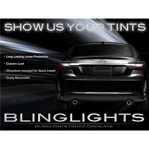 Chrysler 200 Tinted Smoked Tail Lights Protection Overlay Film