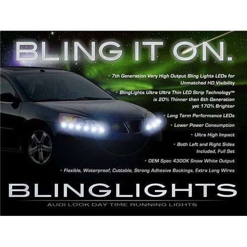 Pontiac G6 LED DRL Strip Lights Head Lights Day Time Running LEDs Strips DRLs