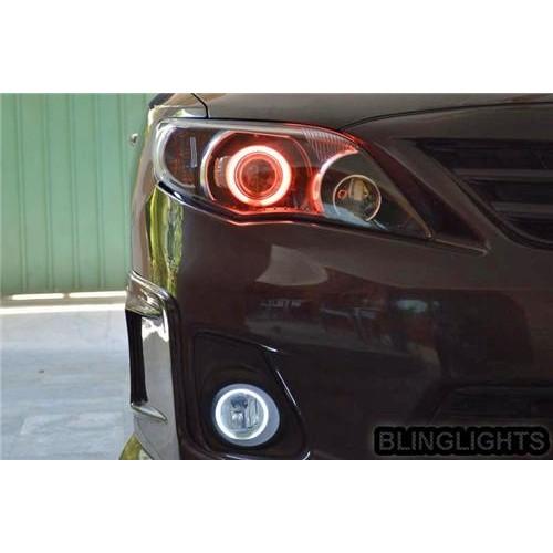2009 2010 Toyota Corolla Halo Fog Light Driving Light Kit E140 Angel Eyes