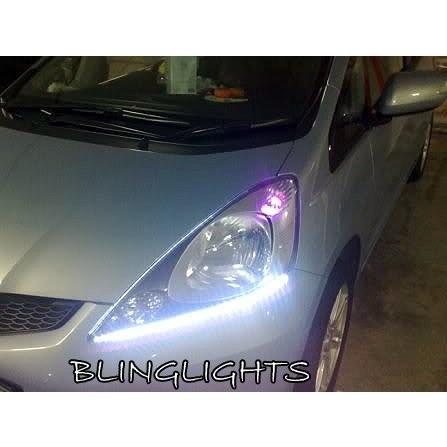 Honda Jazz LED DRL Light Strips for Head Lights Day Time Running Strip Lights