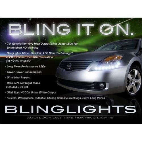 2007 2008 2009 Nissan Altima LED DRL Light Strips for Head Lights Strip Lights