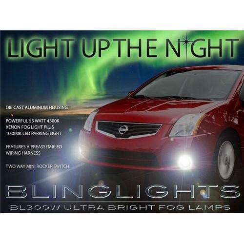 2007 2008 2009 2010 2011 2012 Nissan Sentra Xenon LED Fog Lights Driving Lights