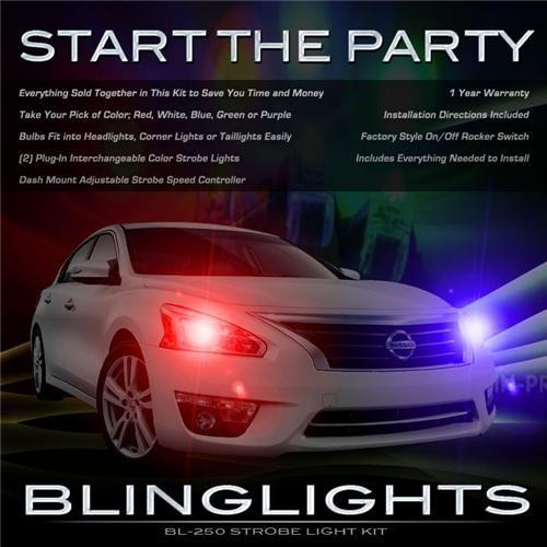 Nissan Altima Head or Tail Lights Strobe Lights Kit Red White Blue Strobes