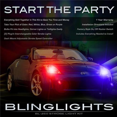 Nissan 350Z Head Lights Strobes Head Lights 2003 2004 2005 2006 2007 2008 2009