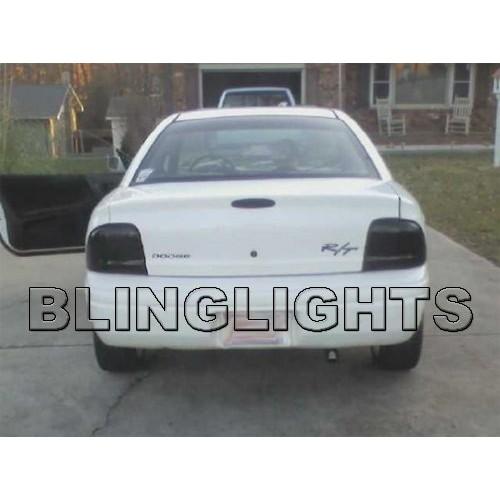 1995-1999 Chrysler Neon Smoke Tint Tail Lights Overlay Film Protection