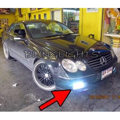 2003 2004 2005 2006 Mercedes-Benz CLK500 LED Fog Lights Driving Lights CLK 500