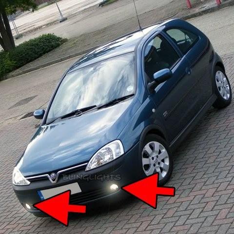 2000 2001 2002 2003 2004 2005 2006 Opel Corsa C Xenon Fog Lights Driving Lights