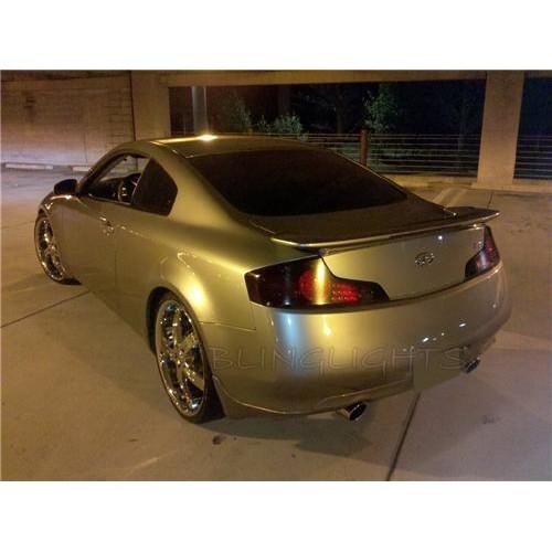Infiniti G35 Coupe Sedan Tinted Smoked Tail Lights Overlay Film Protection