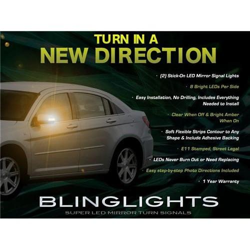 Chrysler Sebring Side Mirror LED Turnsignals Lights Turn Signals Lamps LEDs Mir