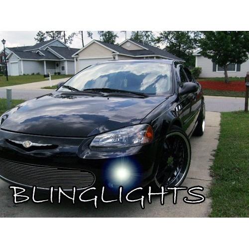 2001 2002 2003 Chrysler Sebring Sedan Blue LED Fog Lights Driving Lights Fog Li
