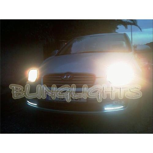 Hyundai Brio LED DRL Light Strips Head Lights Day Time Running Strip Lights