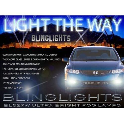 2006 2007 2008 Honda Civic Coupe Fog Lights Kit DX LX EX EX-L Si xenon Foglamp