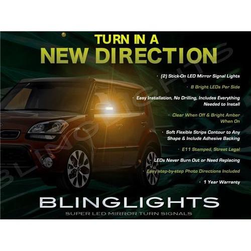 Kia Soul LED Side View Mirrors Turnsignals Lights Mirror Turn Signals Accents L