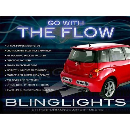 2004 2005 2006 Scion xA RS Custom JDM Rear Bumper Performance Air Diffuser Body