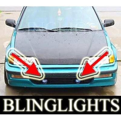 1989 1990 1991 Honda Civic Si Hatch Xenon Fog Lights Fog Lights Driving Lights