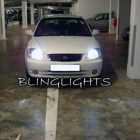 2000 2001 2002 2003 2004 2005 Hyundai Verna Bright White Light Bulbs for Head L