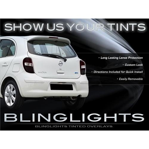 Nissan March Tinted Smoked Tail Lights Overlay Kit Protection Film