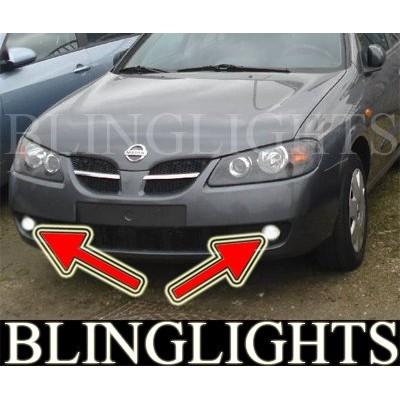 1995-2006 NISSAN ALMERA FOG LIGHTS LAMPS hatchback sedan 97 1998 1999 2000 2001