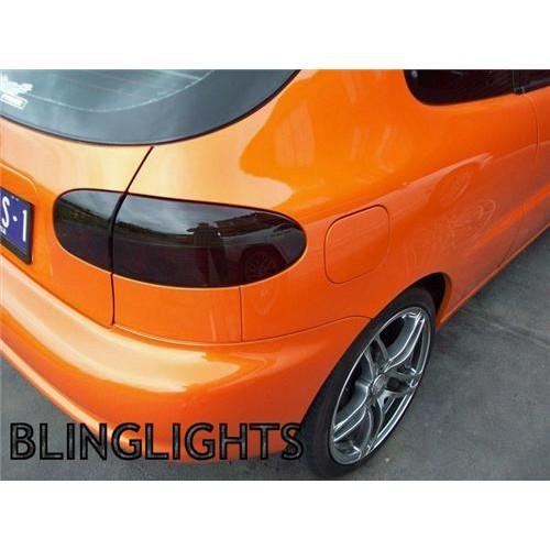 Daewoo Lanos Tinted Tail Lights Lamp Overlay Kit Smoked Film Protection