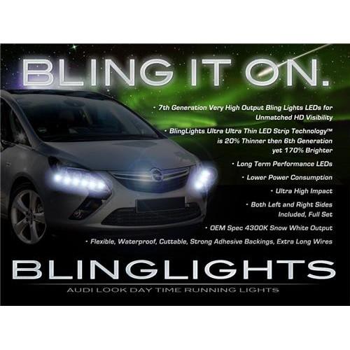 Vauxhall Zafira Tourer LED DRL Light Strips Head Lights Day Time Running Lamps