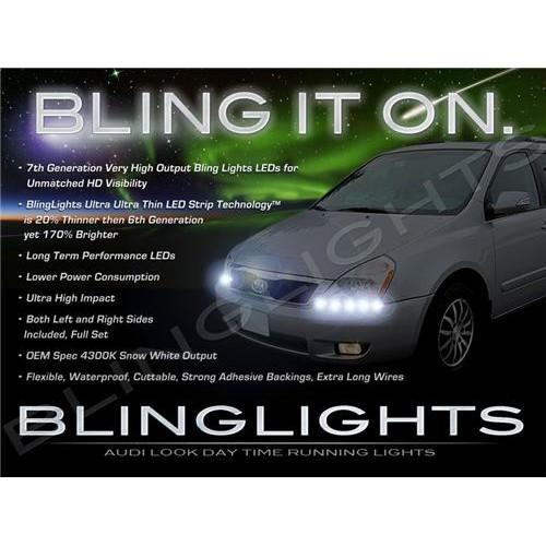 Kia Sedona LED DRL Light Strips for Head Lights Day Time Running Strip Lights