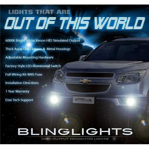 2013 2014 2015 Chevrolet Chevy TrailBlazer Xenon Fog Lights Driving Lights Fog