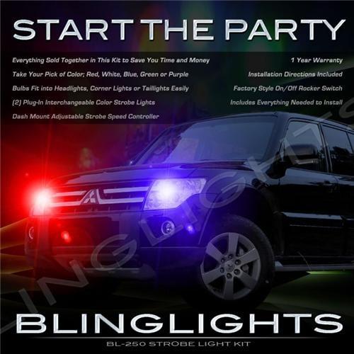 Mitsubishi Shogun Strobe Police Light Kit for Head Lights Strobes