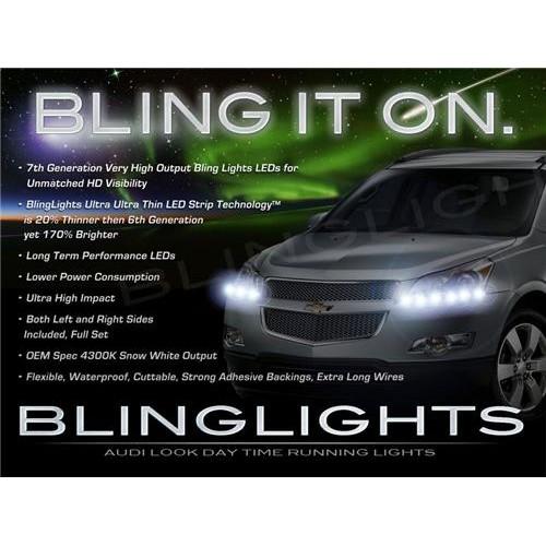 Chevrolet Chevy Grand Blazer LED DRL Strips Day Time Running Strip Lights for H