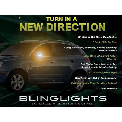 Chevrolet Chevy Captiva Sport Side Mirror LED Turnsignals Lights Turn Signals M