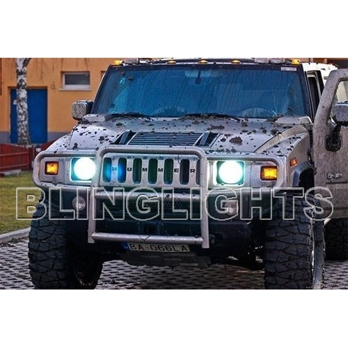Hummer H2 White Light Bulbs Head Lights Head Lamp Lights 2003 2004 2005 2006 20