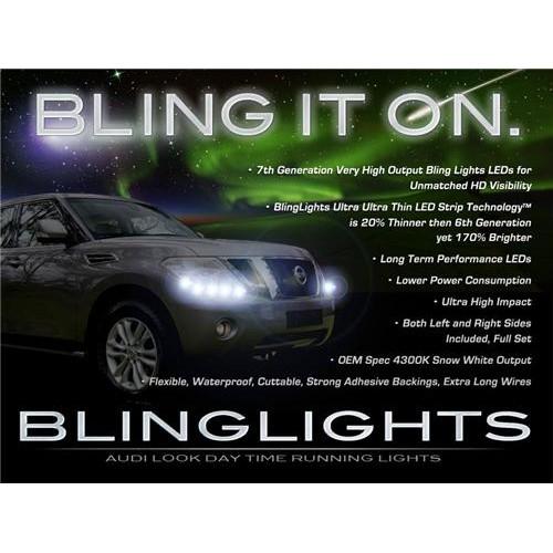 Nissan Patrol Safari LED DRL Strips Head Lights Day Time Running Strip Lights