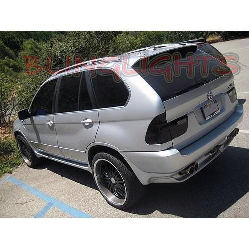 BMW X5 e53 e70 Tinted Smoked Tail Lights Protection Overlay