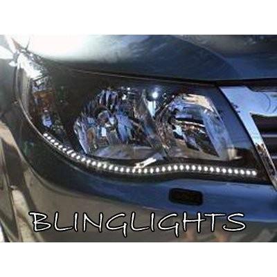 2009-2013 Subaru Forester LED DRL Head Lamp Light Strips Kit