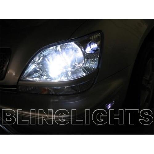 1998 1999 2000 2001 2002 2003 Lexus RX300 White Bulbs Head Lights RX 300
