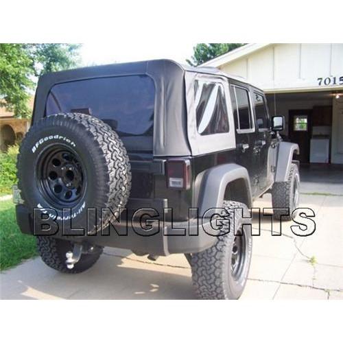 Jeep Wrangler Tinted Film Tail Lights Smoked Protection Overlay Tint