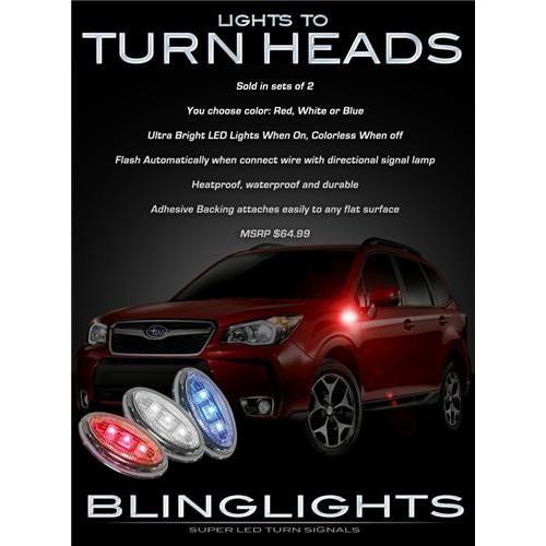 Subaru Forester LED Side Marker Turn Signal Lights Light Kit Accents Set