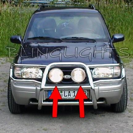 1994-2013 Kia Sportage Offroad Lamp Brush Bar Auxilliary Driving Trail Lights B